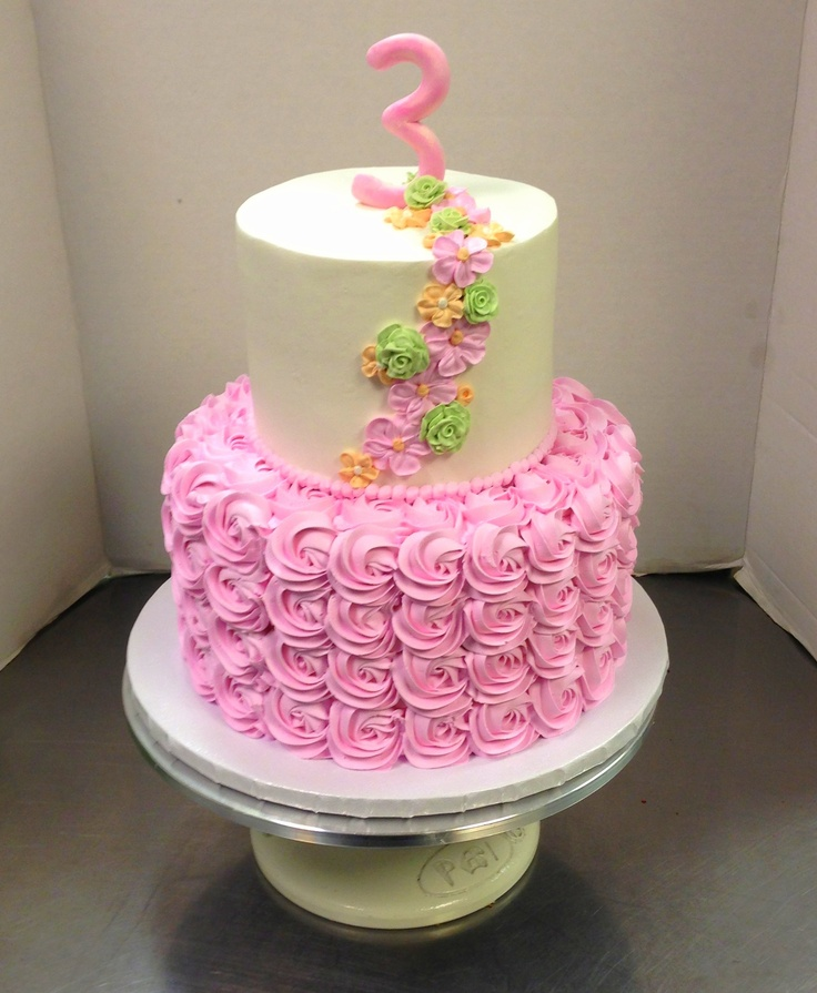 Cake Decorations Pink Roses : Pink Rose Flower Birthday Cake Birthdays Pinterest