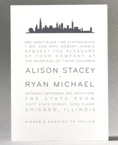 Chicago Wedding Invitations for your inspiration to make invitation template look beautiful