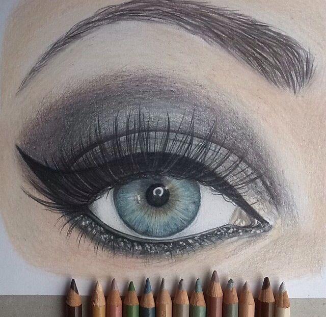 eye makeup drawing drawing ideas pinterest