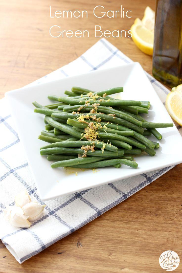 Easy Lemon Garlic Green Beans l www.a-kitchen-addiction.com