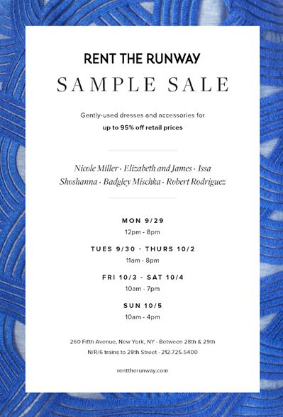 Best Sample Sale New York City
