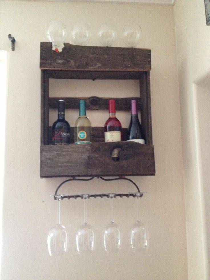 Wine Rack Made Out Of A Old Fence For The Home Pinterest