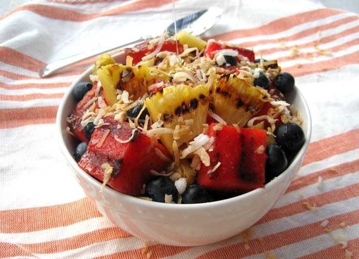Grilled Fruit Salad | mysequinedlife.com