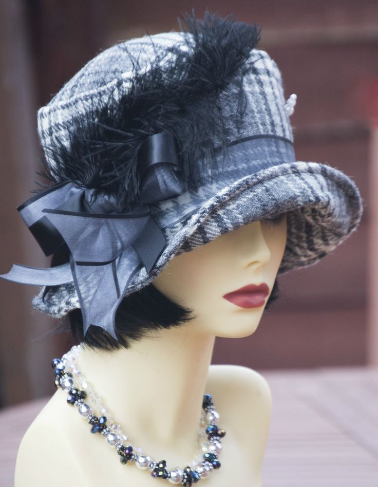 1920s inspired pure wool cloche flapper hat great gatsby