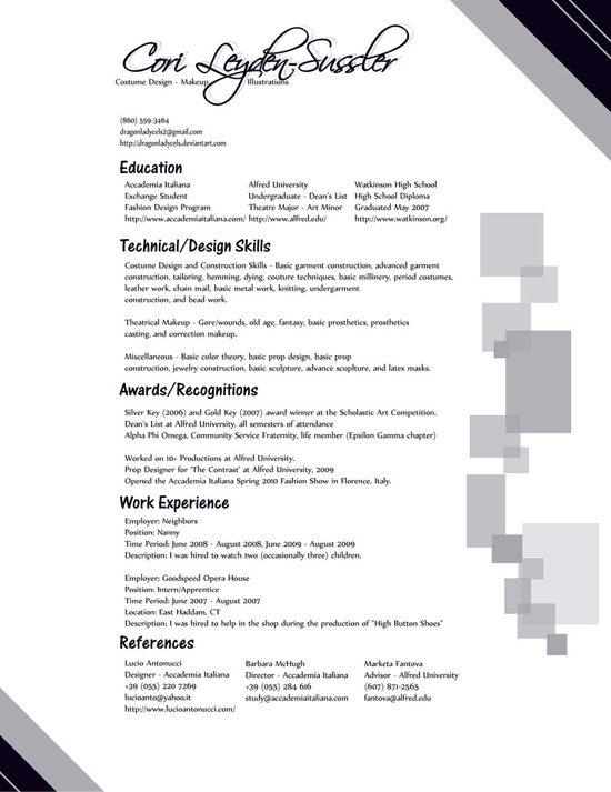 25 attractive print and resume templates 20 attractive