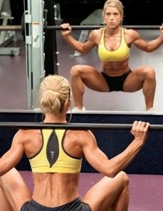 Great Glutes - widen squat stance