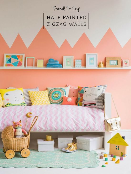 Trend to Try: Half Painted Zigzag Walls