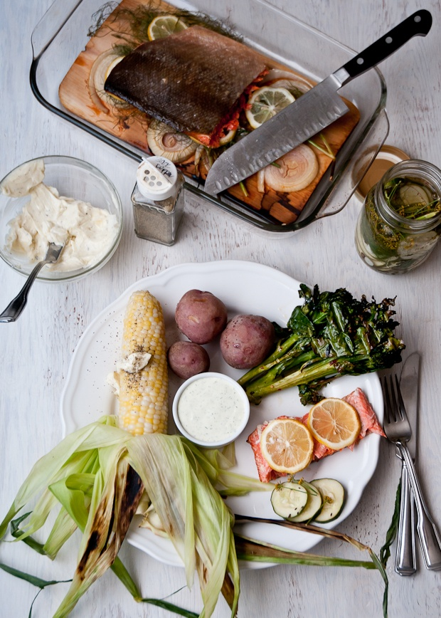 grilled salmon with garlic lemon and dill recipes cedar plank grilled ...