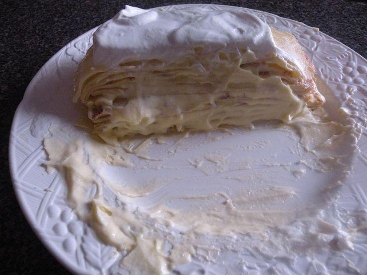 meyer lemonCrepe cream cake. holy cow I'm going to make myself this ...