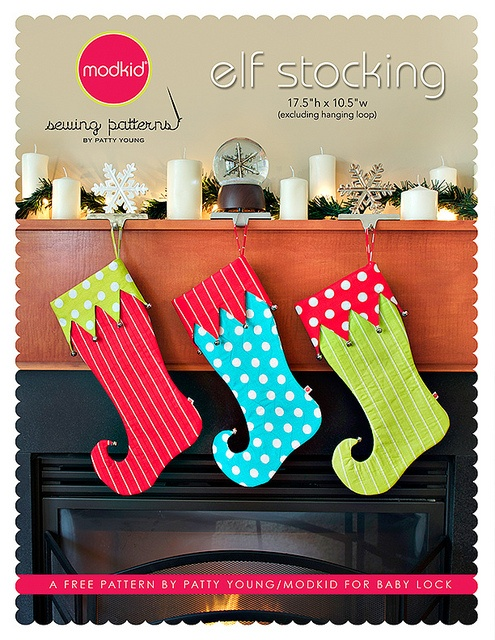 Elf Stocking by patty young / modkid, via Flickr - AWESOMENESS