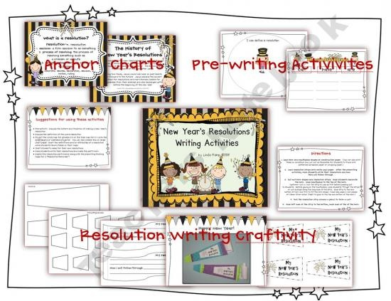 New Year Resolution Writing Template