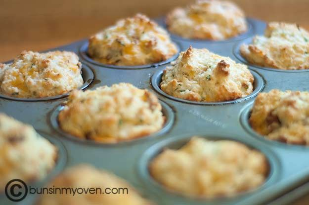 Bacon, Cheddar & Chive muffins | Recipes to try... | Pinterest