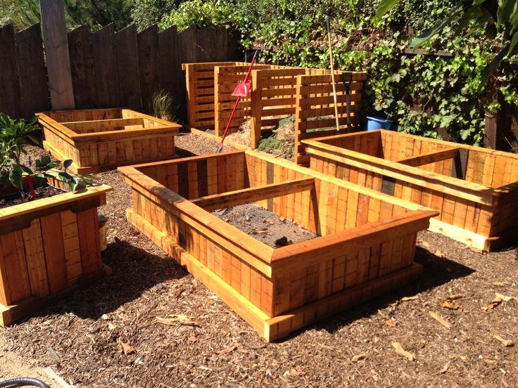 pallet wood raised planter beds do it yourself pinterest