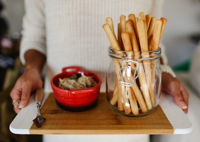 Appetizer recipe: Bistro tuna, lemon & caper dip with breadsticks for ...