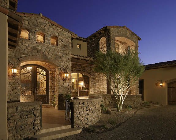 Front entry courtyard arizona pinterest for Italian house plans with courtyard