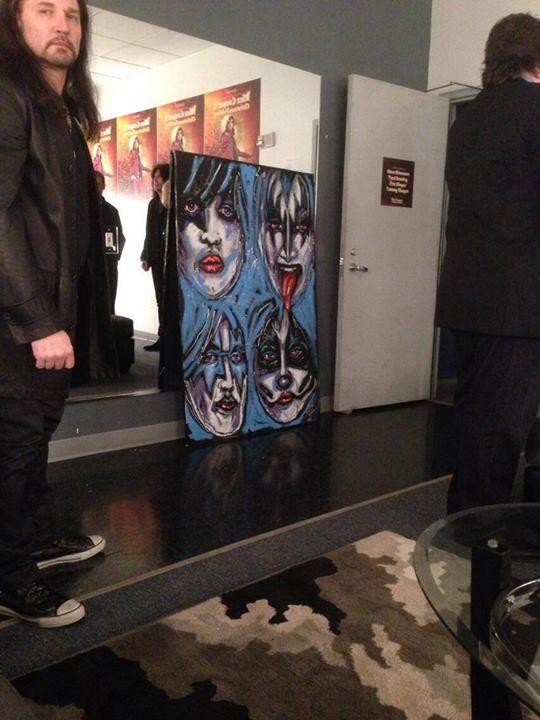 Via Steven ConleyEric Singer Kiss 2013