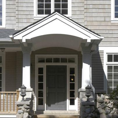 Pin by jen beltz on porch pinterest for Front door overhang ideas