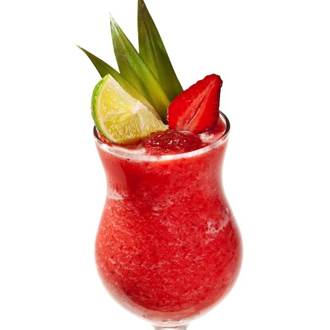 Strawberry Lime Smoothie: 2-3 ice cubes ½ cup frozen strawberries 3 ...