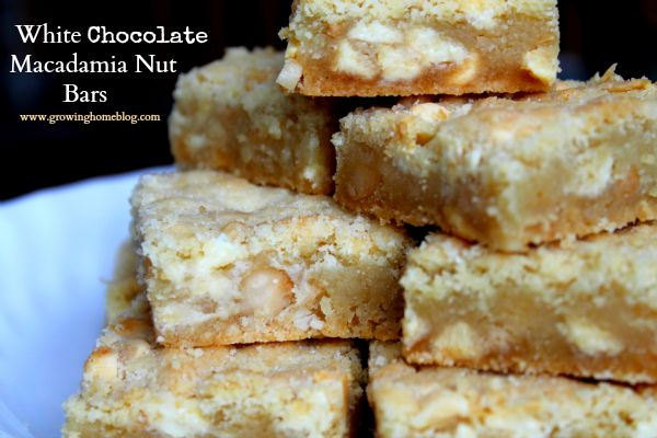 White Chocolate Macadamia Nut Bars Recipe — Dishmaps