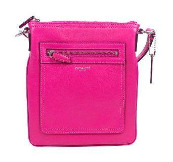 Coach Legacy Leather Swingpack Fuchsia Crossbody Bag