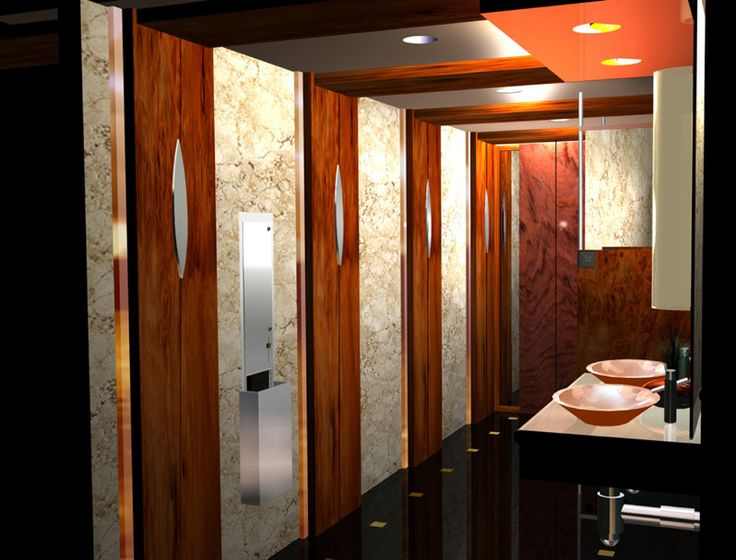 Commercial restroom design corporate design thinking zones pint - Commercial bathrooms designs ...