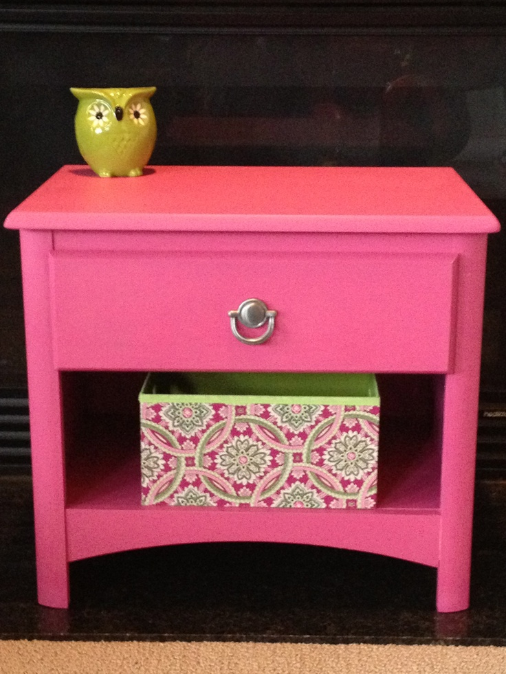 Pink Nightstand Makeover Totally Girly Home Decor Pinterest
