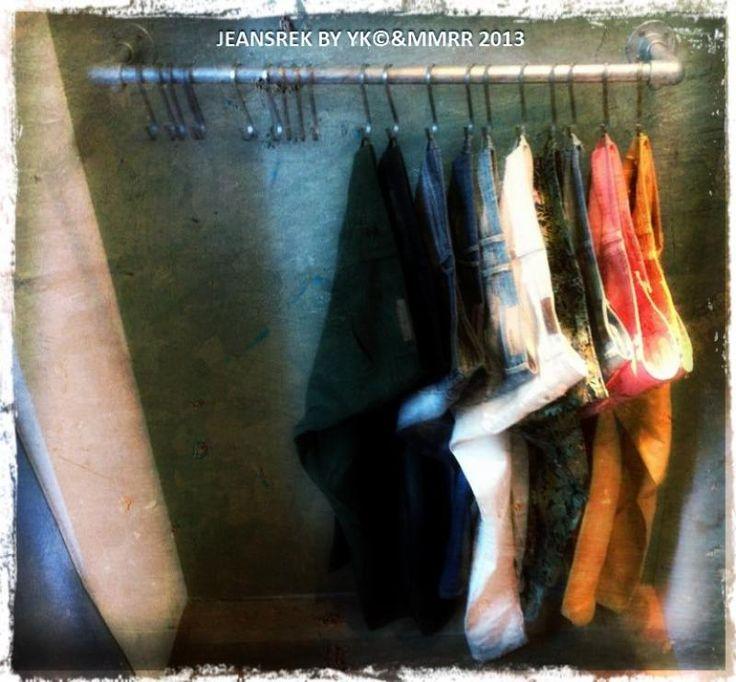 hanging rack for jeans #KeeKlamp | Retail Display Ideas | Pinterest