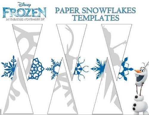 Photo of Frozen paper snowflakes templates for fans of Frozen. Frozen (2013)