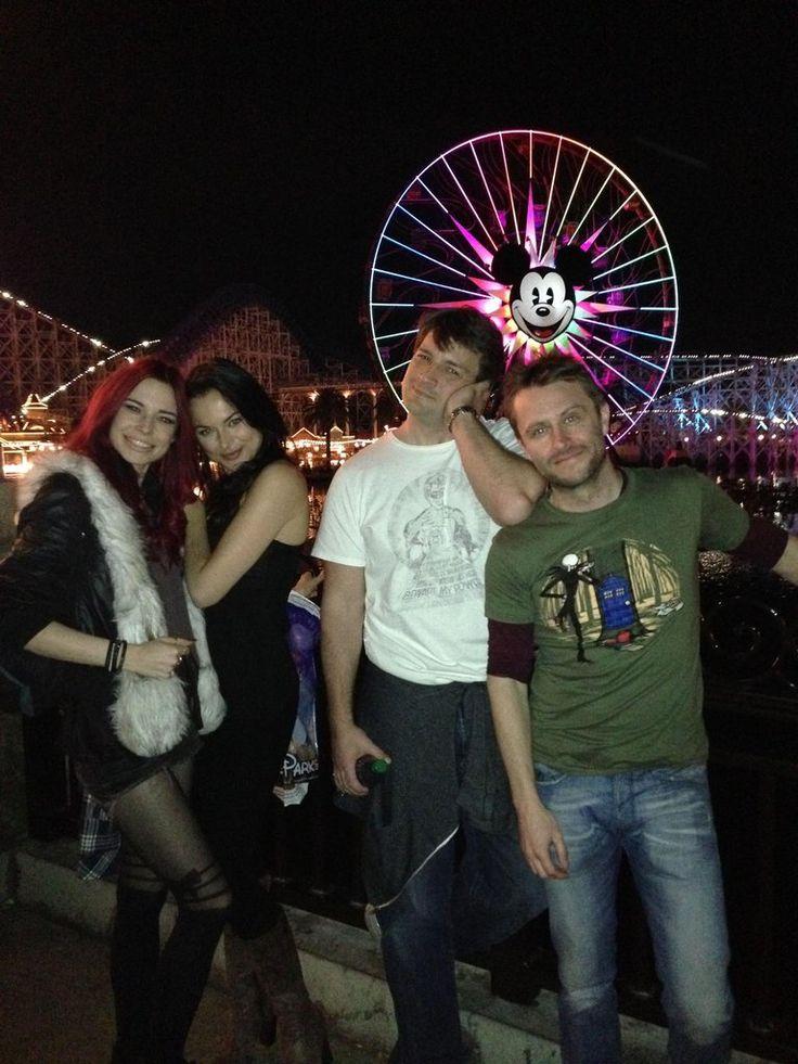 Christina Ochoa, Nathan Fillion & Chris Hardwick. Disneyland. Dec 2013