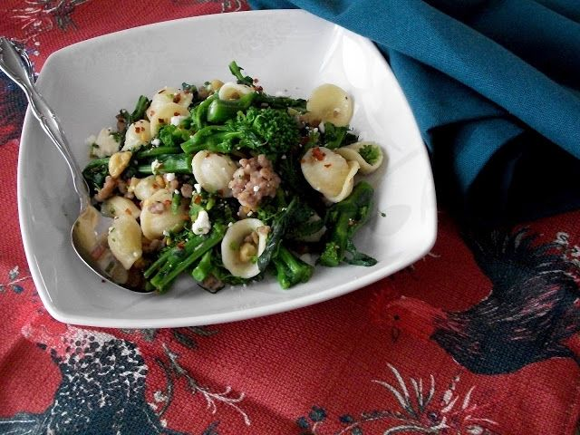 Sprigs of Rosemary: Broccoli Rabe with Sausage and Orrechiette