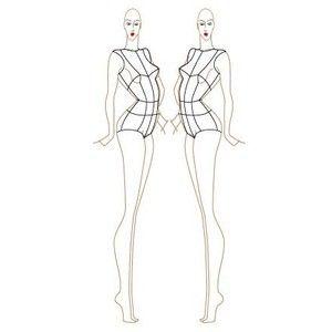 full figure croquis | Female Fashion Croquis Templates ...