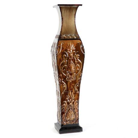 Champagne Metal Floor Vase | Kirkland's