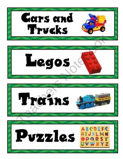 Toy Box Labels Printable | New Calendar Template Site