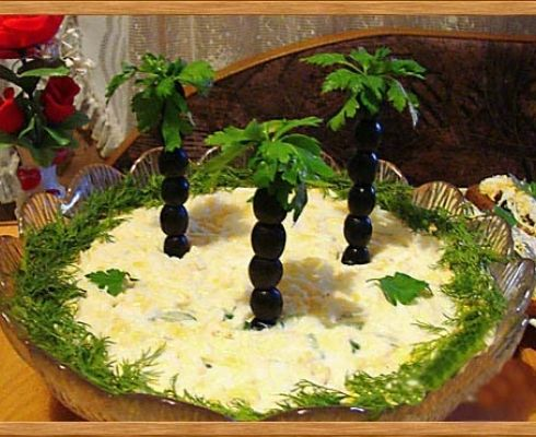 Украшение салата на день рождения ребенка