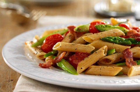 Penne with asparagus with prosciutto | Noodles and gnocchi | Pinterest