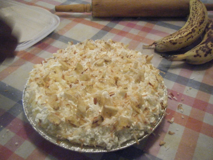 Banana Coconut Cream Pie | My Reason For Living! | Pinterest