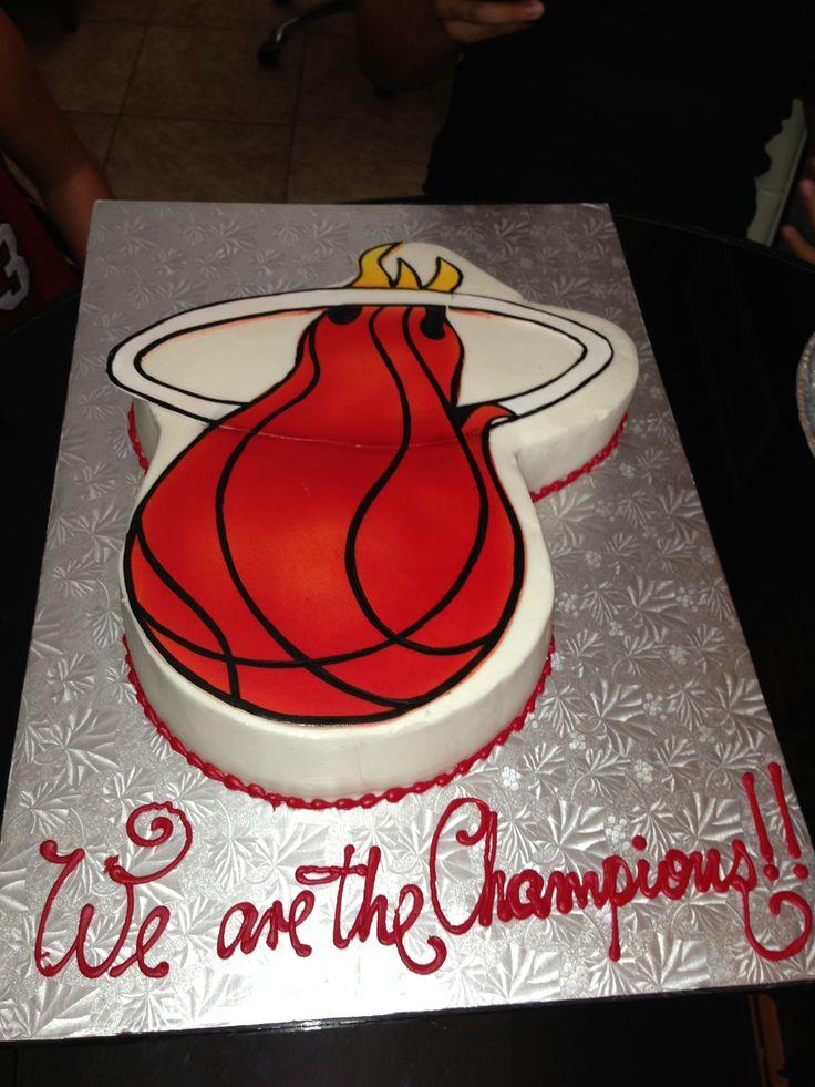 miami heat cake designs