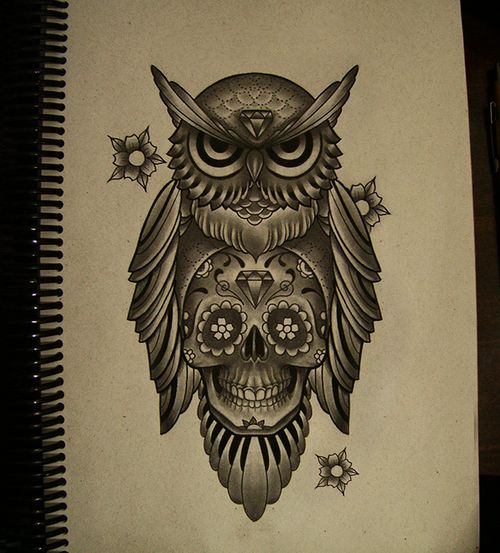 Owl Skull Tattoo Tumblr