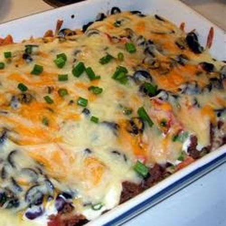 Easy Mexican Casserole.. make with ground turkey or beef!