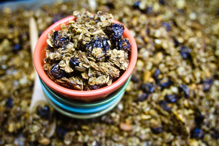 chia cherry granola // crunchy and perfect with soy milk