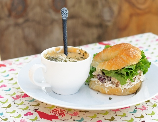 ... Salad Sandwich with Cheesy Broccoli Soup! #lunch #recipe #dinner
