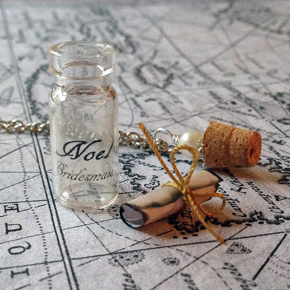 Personalized double message in a bottle, Gift, Secret Message In a Bo ...