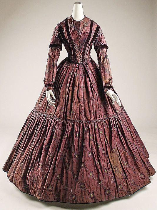mid19th century dress historical dresses pinterest