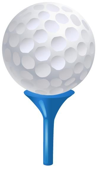 Free Golf Clipart Golf Ball On Tee Clipart
