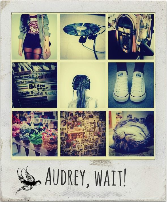 Audrey Wait! will always be one of my favorite books. Its indie-rock'n'roll style and its fantastic teen characters will keep you hooked until the end. Robin Benway did an amazing job to make us feel like the cool kids we always wanted to be, simply with this single colorful story.   Edit inspired by: http://setphasertofun.tumblr.com/post/48145530844
