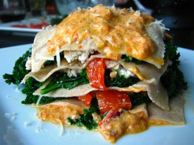 ... and dill chicken roasted red pepper and goat cheese lasagna recipes