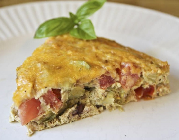 greek frittata greek frittata with zucchini tomatoes feta and herbs ...