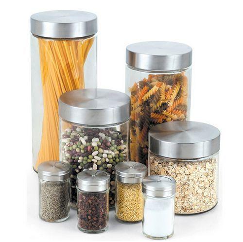 Cook Home Glass Canister Spice Jar Set Kitchen Storage