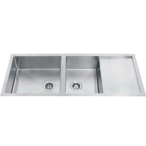 Double Undermount Sink With Drainer : Double Bowl Undermount Kitchen Sink with Drainer - 1308mm $699