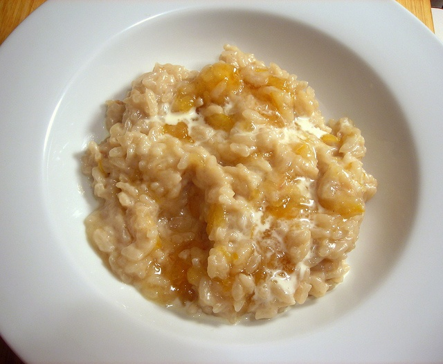Sweet coconut risotto, with Meyer lemon marmalade and light rum by ...